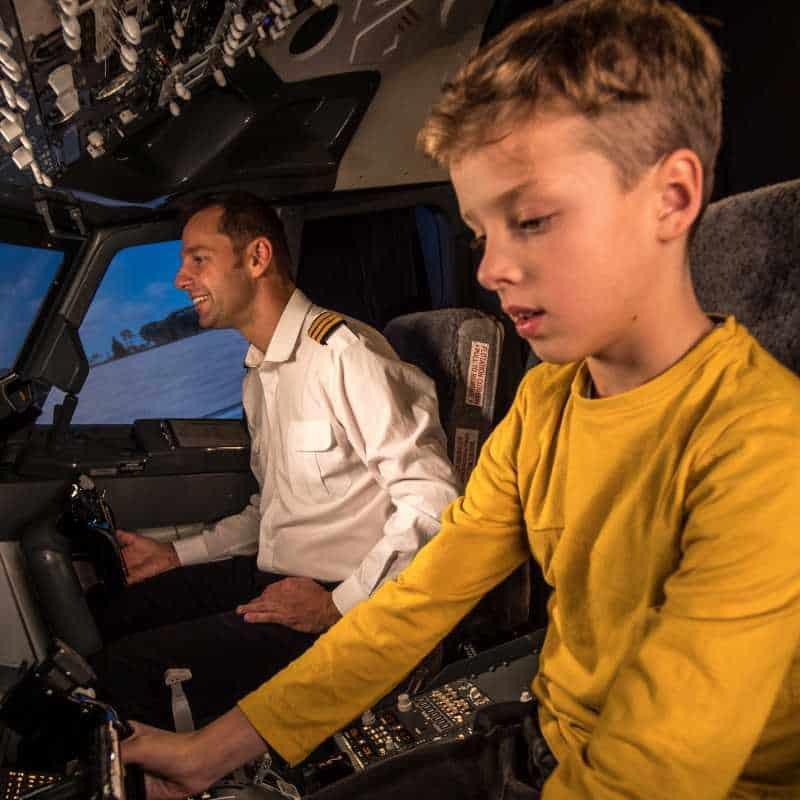 Symulator lotu dla dzieci